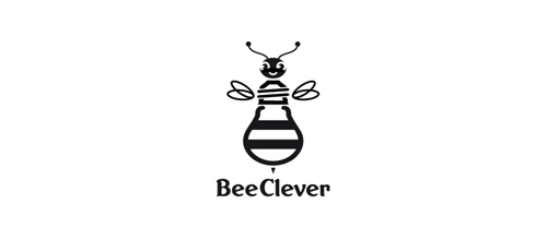 BeeClever logo design examples