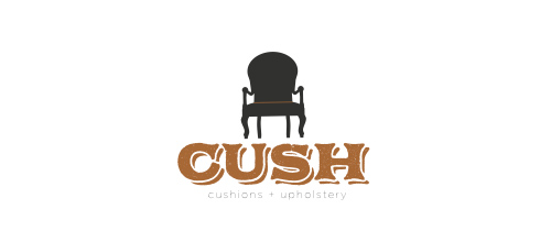 furniture logo designs examples CUSH | cushions + upholstery