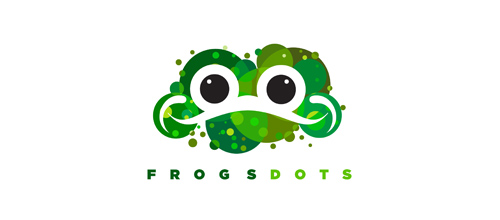 Frogs Dots logo design examples