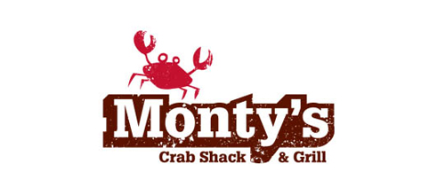 Monty's Crab Shack logo design examples