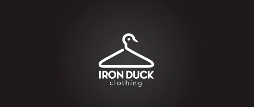 Clothing hanger ducks logo design examples