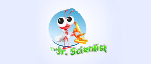 Scientist science ant logo design ideas