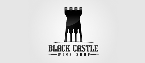 Wine shop castle logo design examples ideas