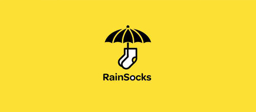 RainSocks logo design