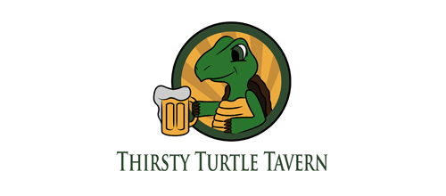 Thirsty Turtle Tavern logo design ideas