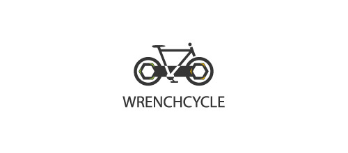 bike logo design wrench bicycle logo design
