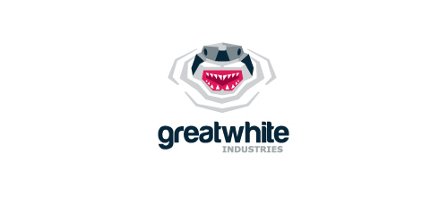 Great White Industries logo design examples