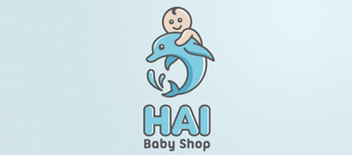 Hai Baby Shop logo design