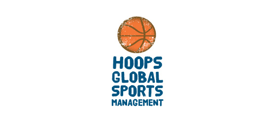 basketball logo design ideas Hoops Global Sports Management