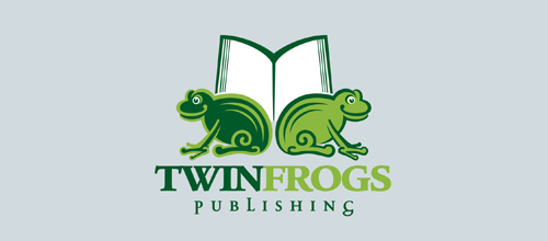Twin Frogs logo design examples