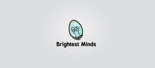 Brightest Minds logo design examples ideas