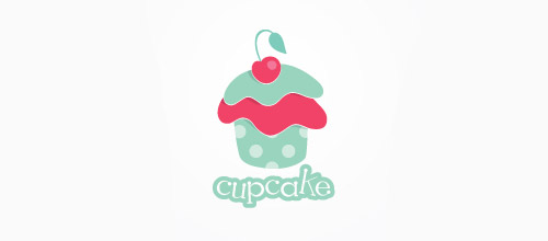 logo design cute cupcake logo design