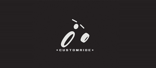 bike logo design customride logo