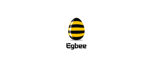 Eggbee logo design examples ideas