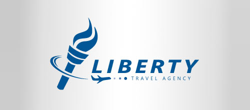 Creative Travel Agency Logos Liberty Travel Agency Logo
