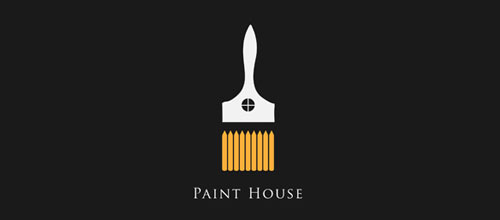 Paint House logo design examples