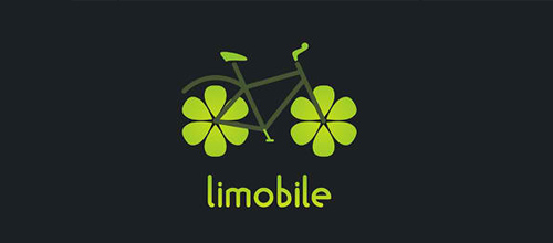 bike logo design Limobile logo