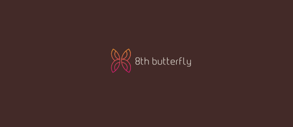 8th butterfly logo Design 12