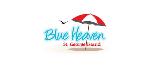 BlueHeaven logo design