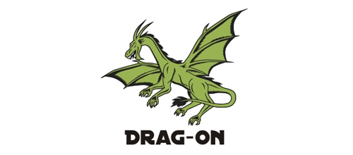 dragon logo design examples Drag-On