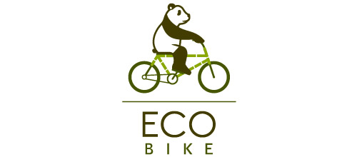 bike logo design eco logo design bike