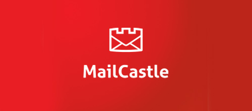 Mail letter castle logo design examples ideas