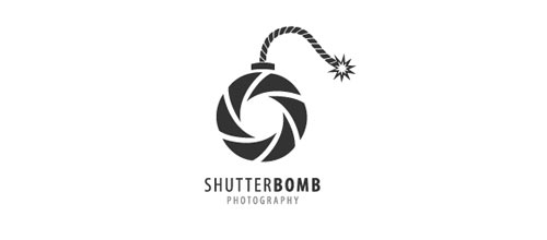 Shutter Bomb Photography logo design examples