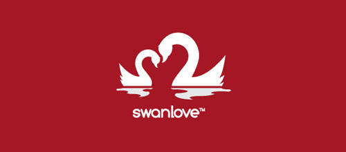 Swan Love logo design examples ideas