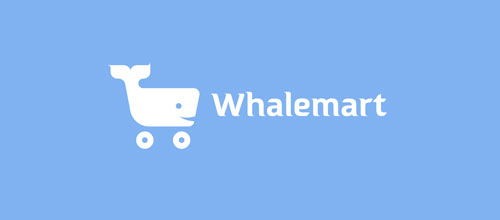 whalemart logo design examples