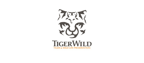 Wild life tiger logo design ideas