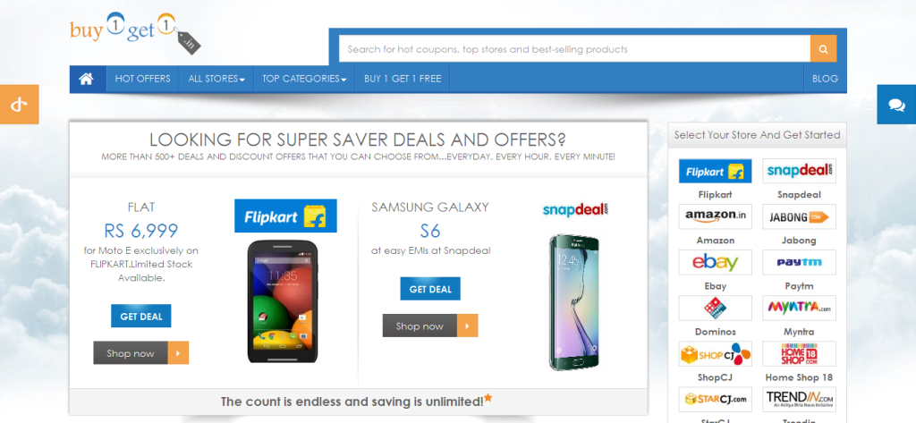 Top 10 coupon sites for best shopping deals in india for Best websites to buy online