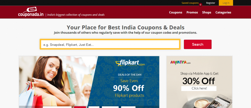 Couponada_in - your place for India's best coupons and deals - Couponada_in