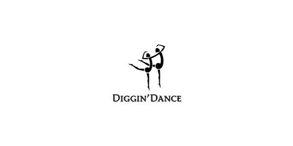 Diggindance dance logo design