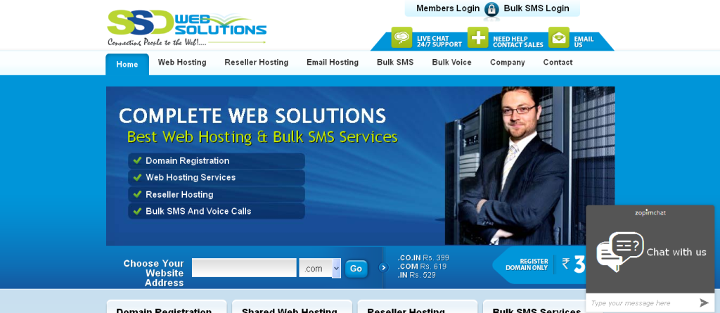 Domain Names, Web Hosting and Bulk SMS Services in India
