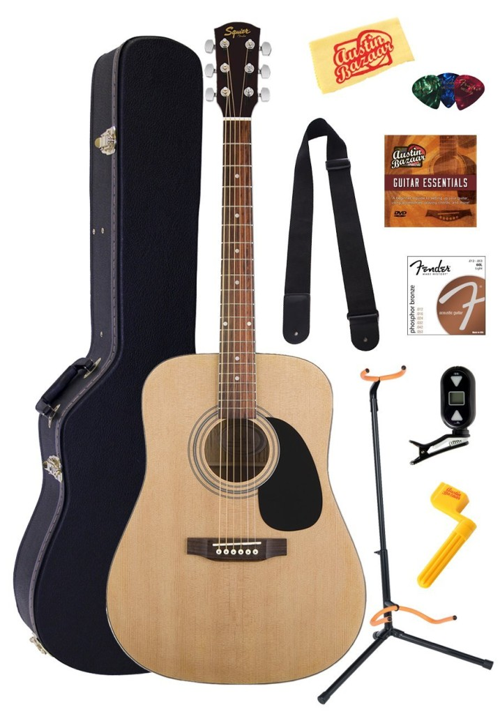 Fender Squier Acoustic Guitar Bundle with Gearlux Hardshell Case