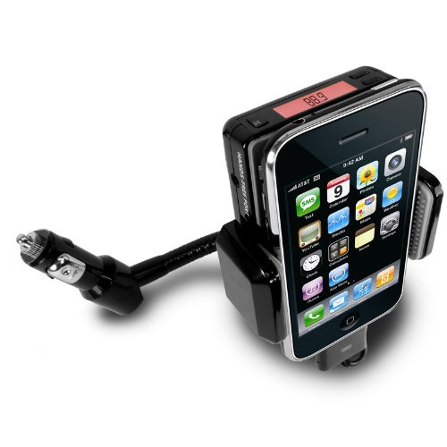 Flexpod Car Mount System for Apple iPhone 3G and 3GS iPod Touch 2nd and 3rd Gen - Cutting Edge FM Transmitter and Charger with DC Surge Protection and Stabilized Flex-Neck