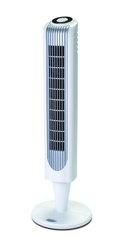 Holmes HT38R Oscillating Tower Fan with Remote Control, White