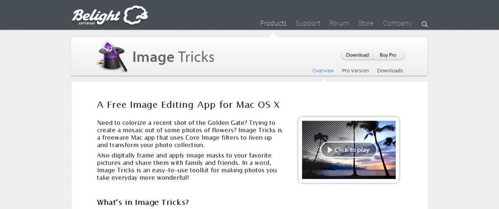 Image Tricks — Overview
