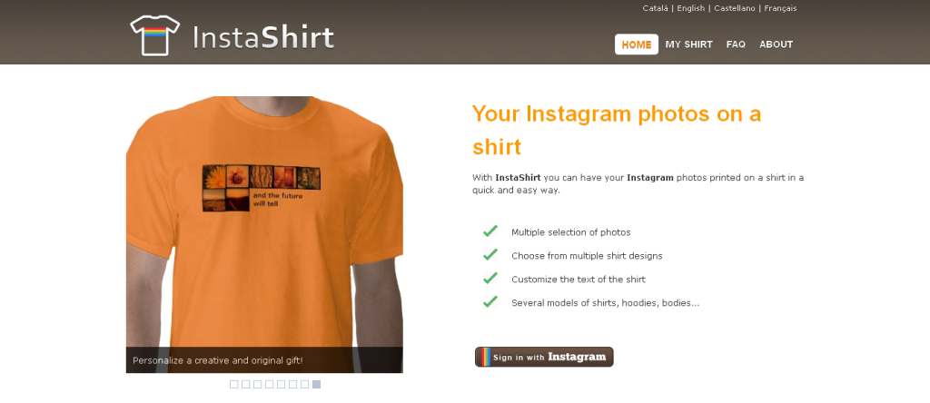 InstaShirt » From your Instagram to a shirt