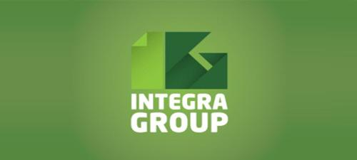Origami Logo Design Integra Group
