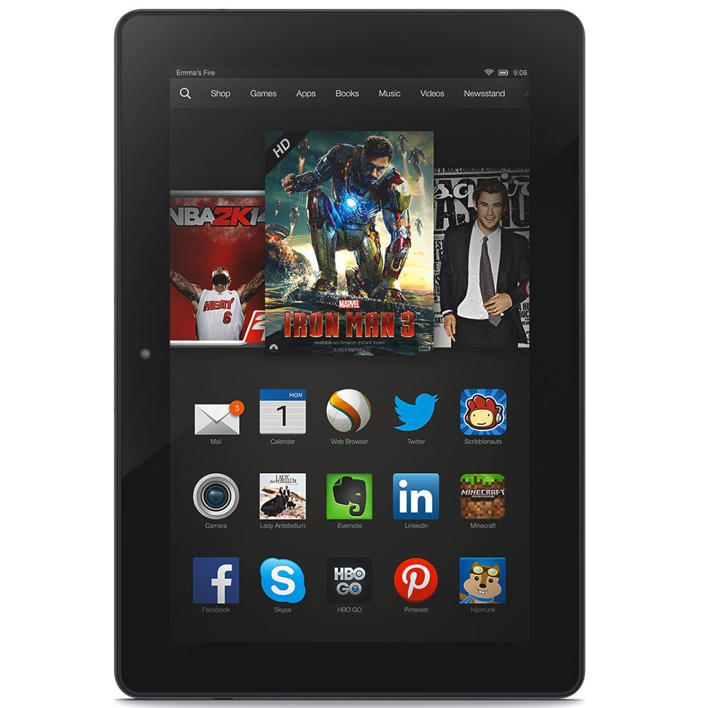 Kindle Fire HDX 8.9, HDX Display Wi-Fi, 16 GB - Includes Special Offers