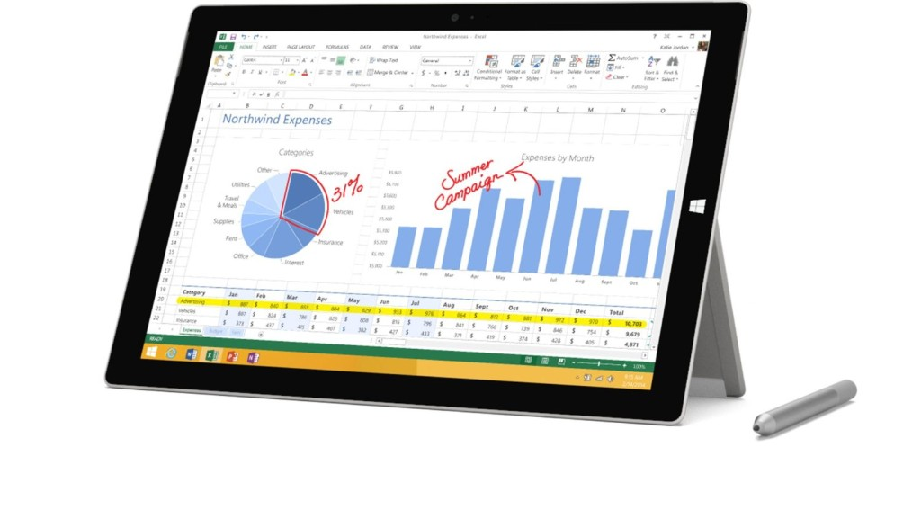Microsoft Surface Pro 3 (64 GB, Intel Core i3)