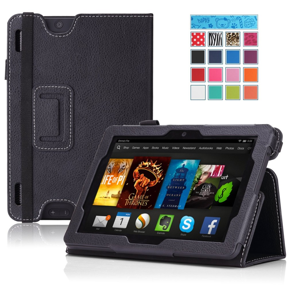 MoKo Amazon Kindle Fire HDX 7 Case - Slim Folding Cover Case