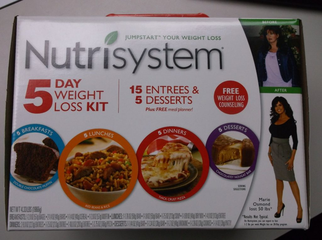 Nutrisystem Jumpstart Your Weight Loss 5 Day Weight Loss Kit