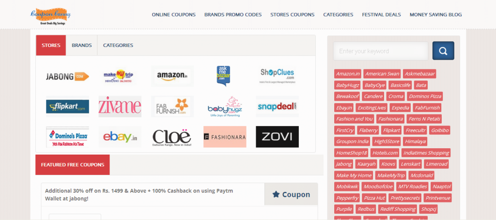 Online Coupons, Discount Deals and Promo Codes - CouponCanny_in
