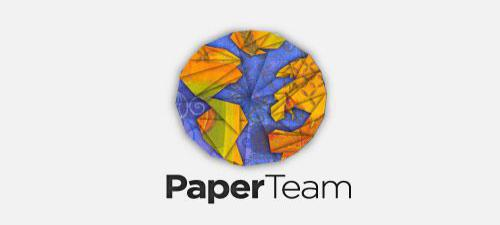 Origami Logo Design Paper Team