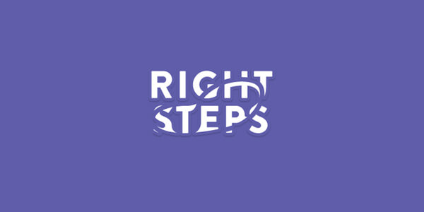 Right Steps Dance Studio logo design