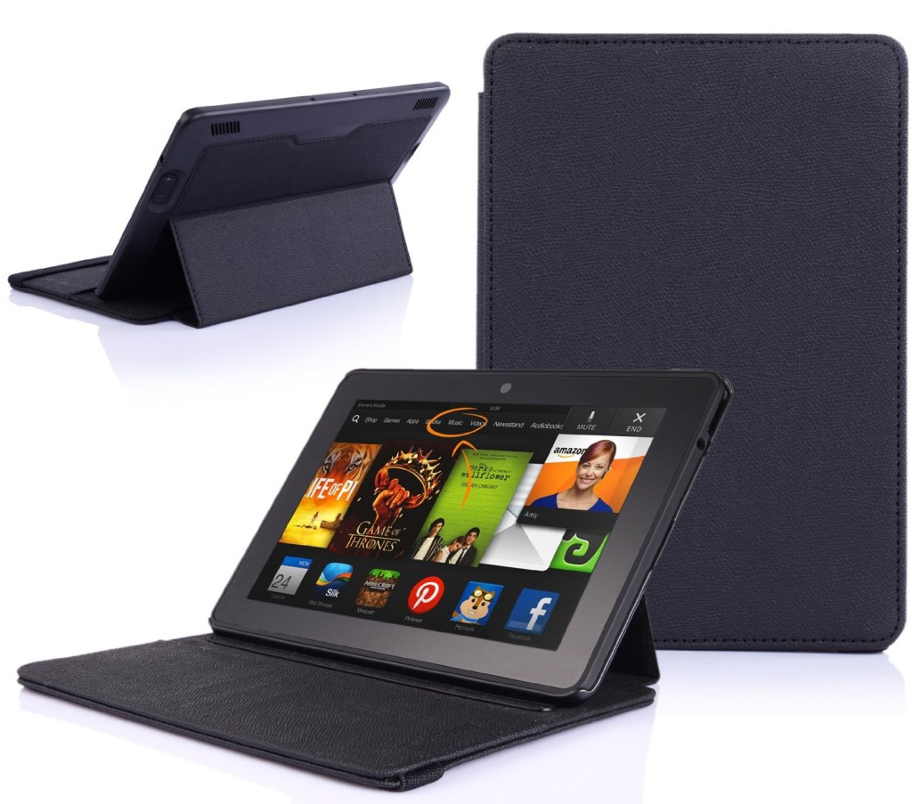 SUPCASE Amazon All New Kindle Fire HDX 7 Premium Slim Hard Shell Leather Case