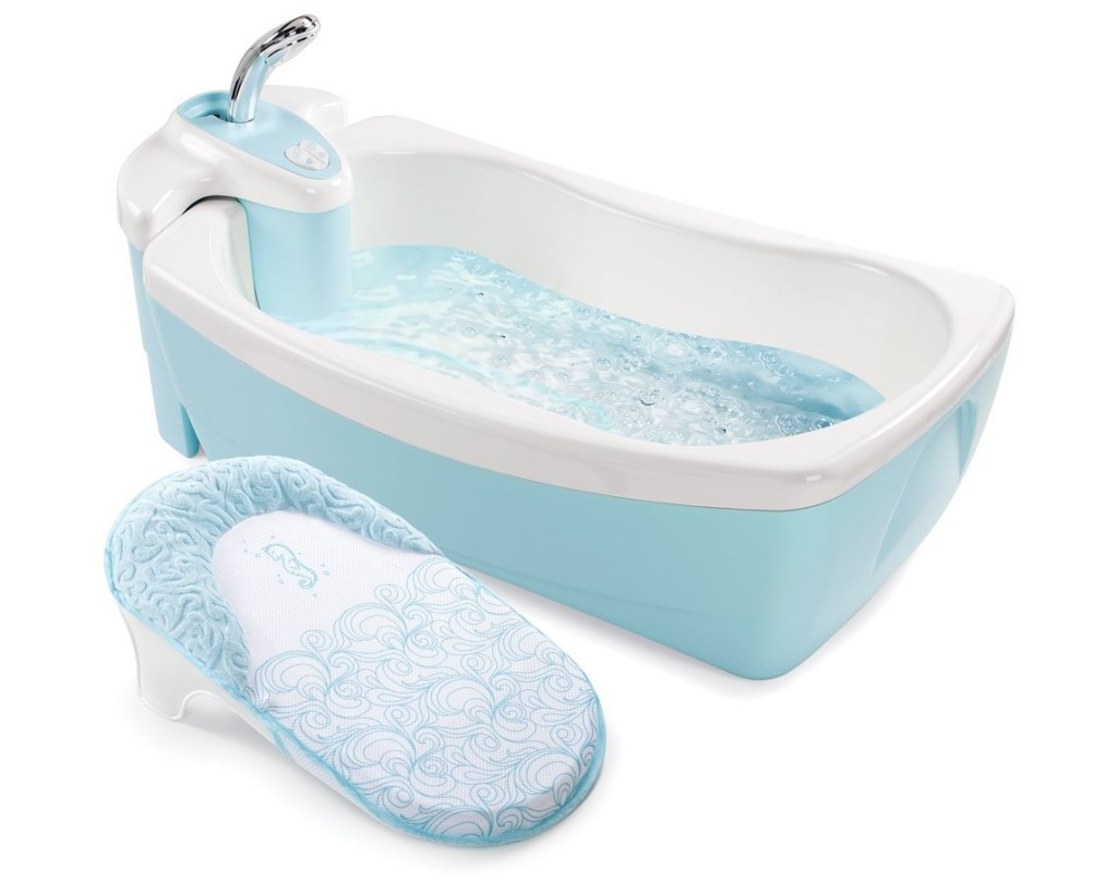 Summer Infant Lil' Luxuries Whirlpool Bubbling Spa and Shower Tub, Blue