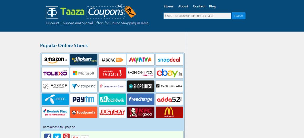 TaazaCoupons - Discount Coupons and Special Offers for Online Shopping in India